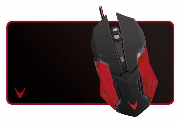 VARR Gaming set, Gaming Mouse 800 - 2400 dpi, Led Logo, 6 button + mouse pad 60x30 cm