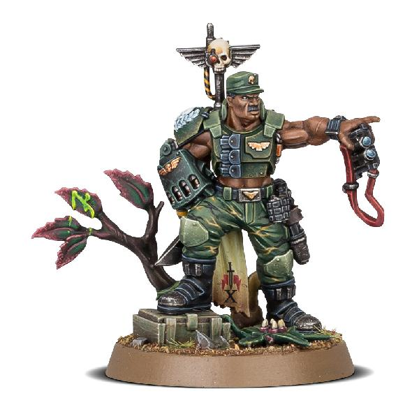 Warhammer 40.000 - Astra Militarum - Catachan Colonel - Store Anniversary Miniature - UNIQUE!